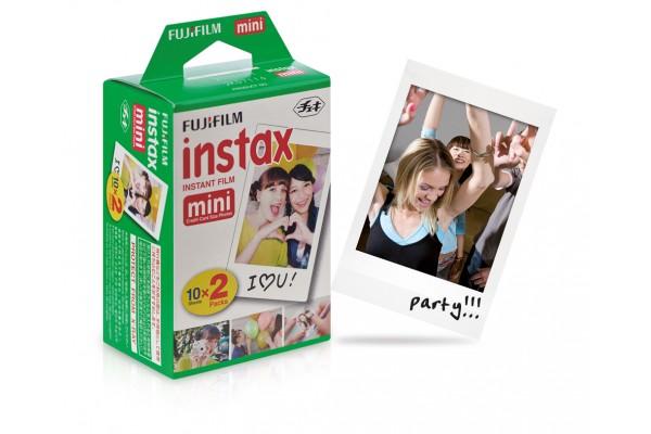 Fujifilm Instax MIni farvefilm med hvid ramme Dobbelt Pack