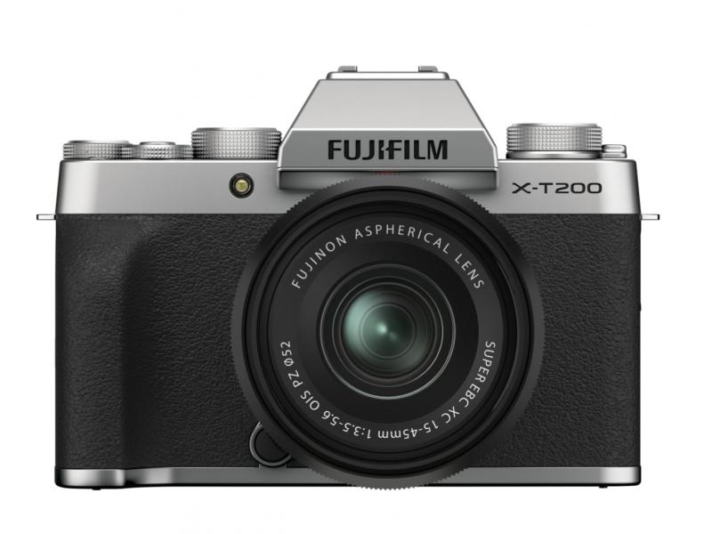 Fujifilm X-T200 Silver Kit med XC 15-45mm F3.5-5.6