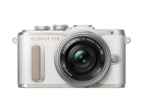 Olympus E-PL8 Pancake Zoom Kit Hvid E-PL8 + EZ-M1442EZ Sølv