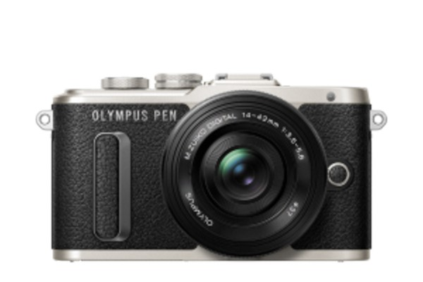 Olympus E-PL8 Pancake Zoom Kit Sort E-PL8 + EZ-M1442EZ Sort