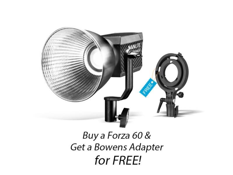 Nanlite Forza 60 med Bowens Adapter