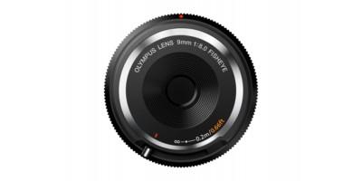 Olympus Body Cap Lens 9mm f/8.0 fisheye Sort