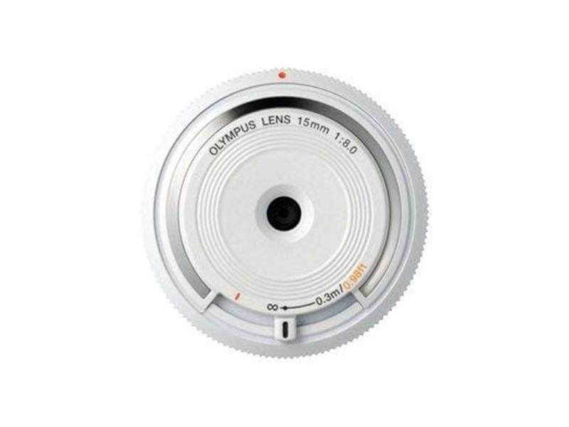 Olympus Body Cap Lens 15mm f8.0 Fisheye Hvid