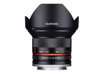 Samyang 12mm F2 NCS CS til Fujifilm X-Mount Sort