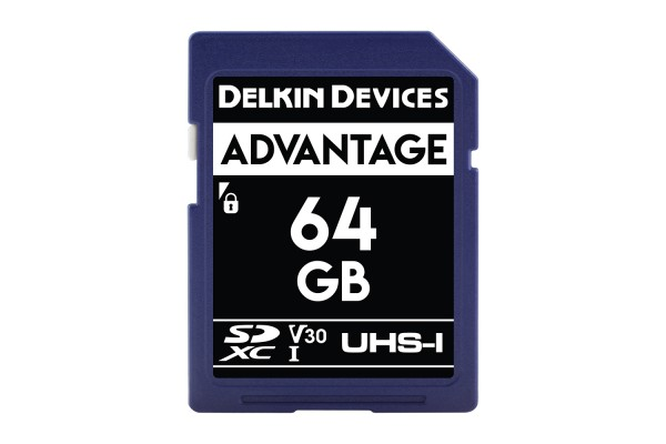 Delkin SD Advantage UHS-I U3 (V30) 64GB